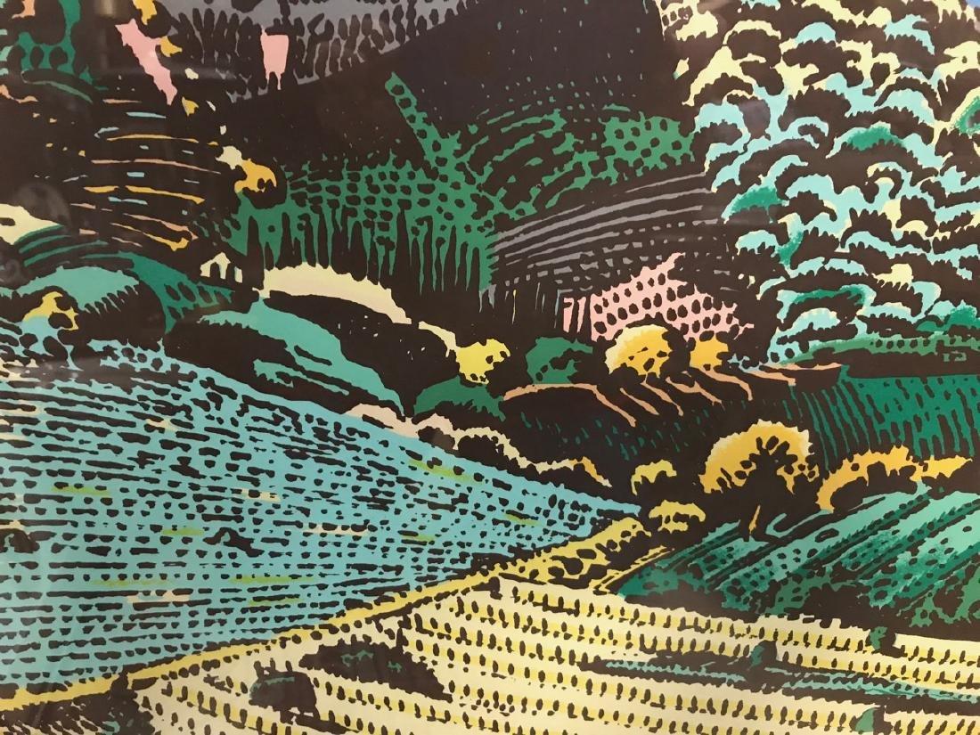 Milton Glaser Ltd Ed Print - View From Greve - 6