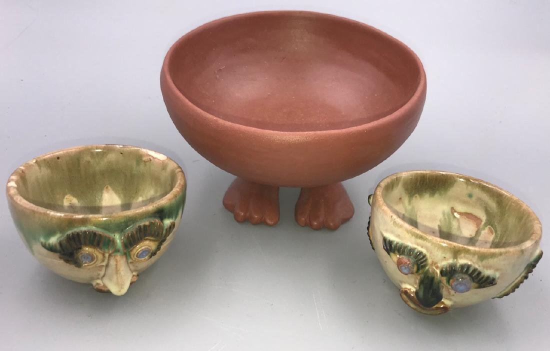 Figural Bowl and Two Cups