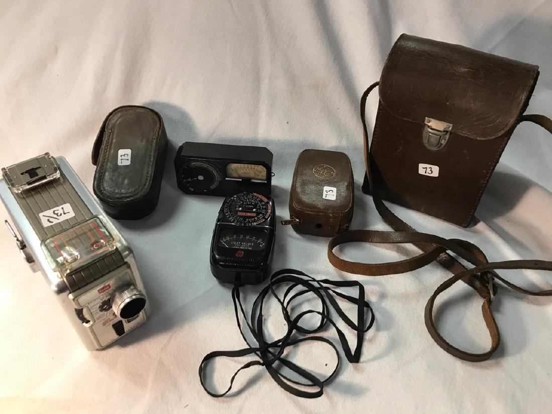 Kodak Brownie 8mm Movie Camera and Meters