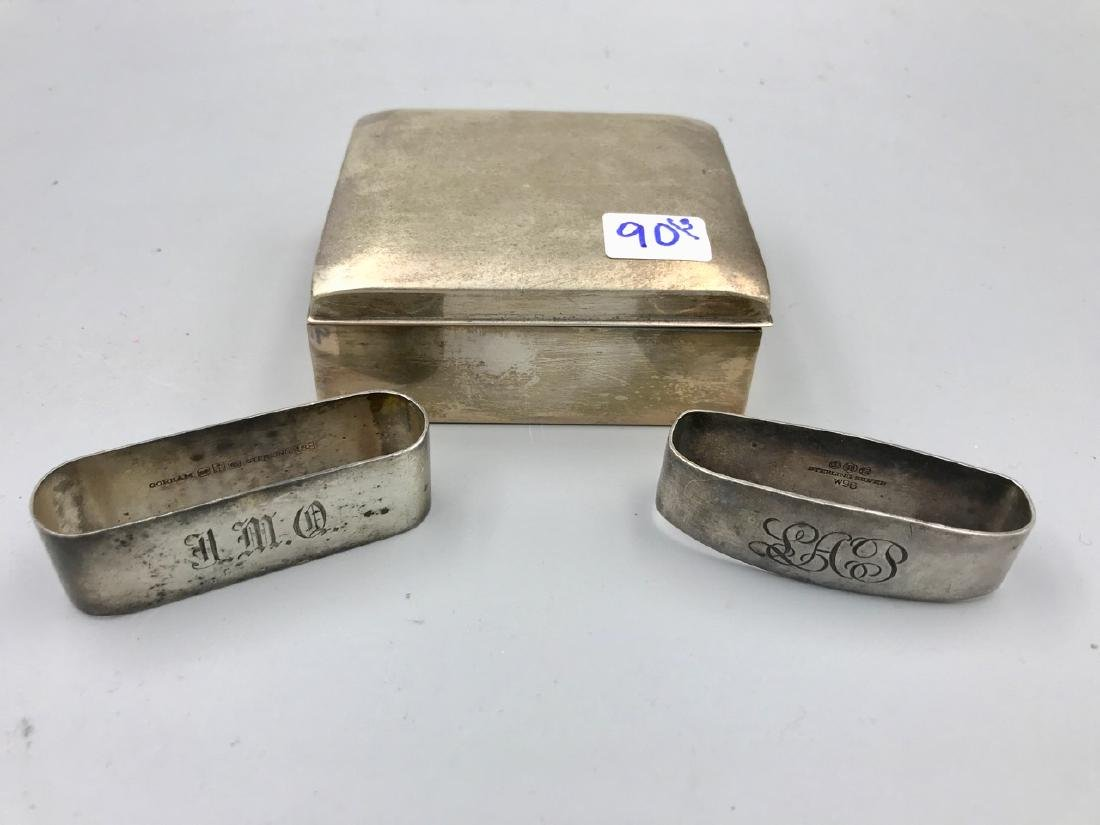 Poole Sterling Box, Two Napkin Holders