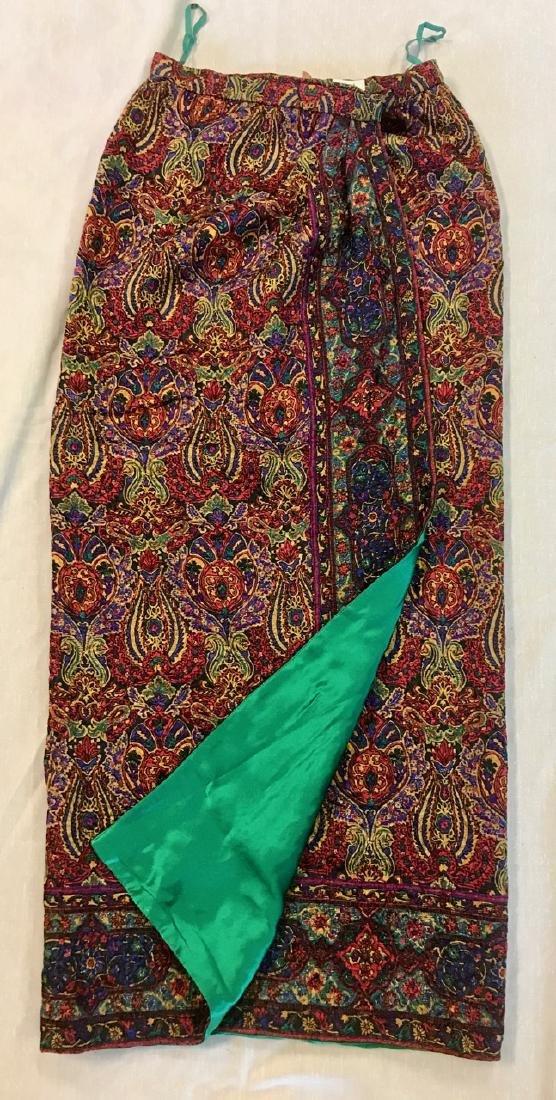 Oscar De La Renta Paisley Skirt