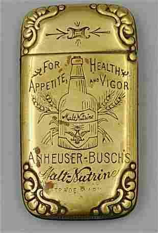 Anheuser-Busch Malt-Nutrine Match Safe