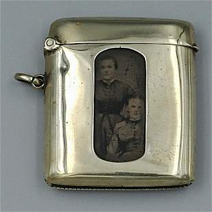 Silver Plated Match Safe with Photo