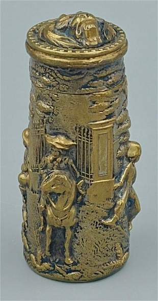 Dutch Bronzed Repoussed Match Safe