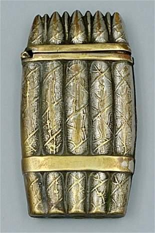 Silver Plated Cigar Bundle Match Safe