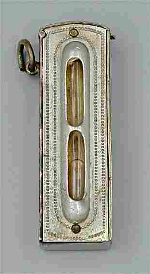 Silver Plated Carpenter's Level Match Safe