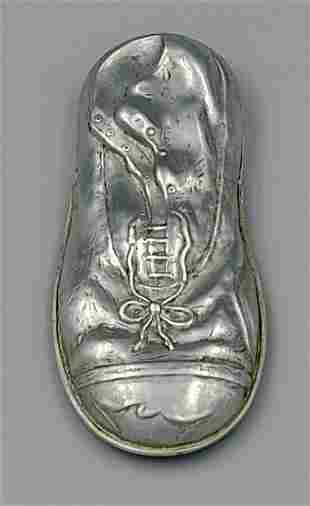 Aluminum Shoe Match Safe