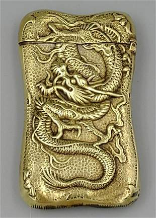 Japanese Brass Dragon Match Safe