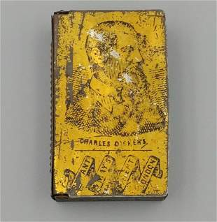 Charles Dickens Tin Match Safe