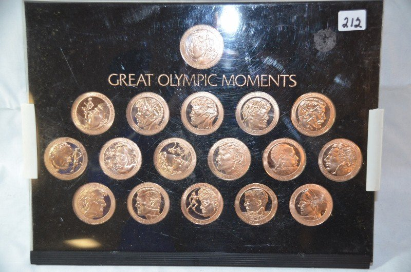 Set of Great Olympic Moments Coins