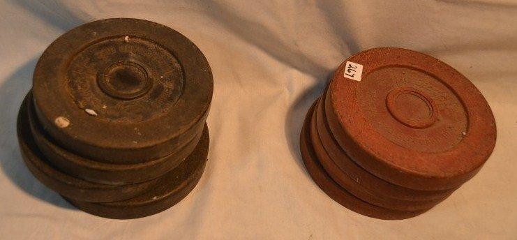 Three Shuffleboard Sticks & 8 Pucks - 3