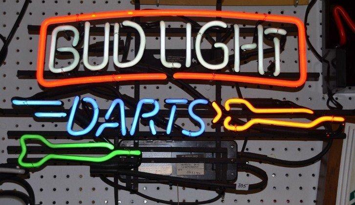 Bud Light Darts Neon Light Up Bar Sign - 2