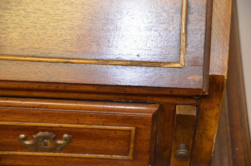 Queen Anne Drop Front Secretary Desk with Hutch - 3