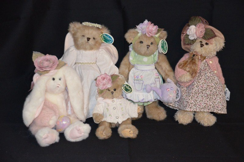 Lot of Bearington Collection Bears - Spring Theme (5)