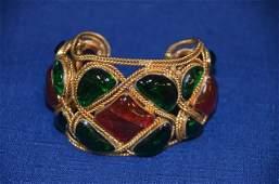 Vintage Chanel Gripiox Cuff Bracelet