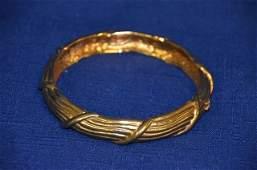 Vintage Chanel Gold Tone Bangle Bracelet