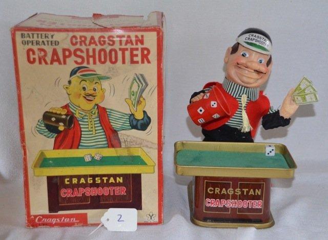 Vintage Cragstan Crapshooter Tin Toy