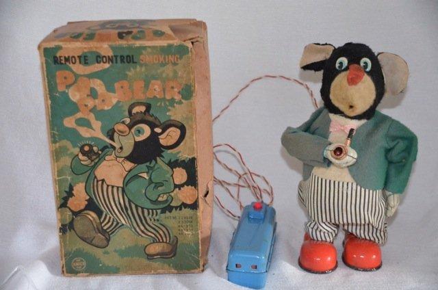 Remote Control Smoking PaPa Bear Tin Toy