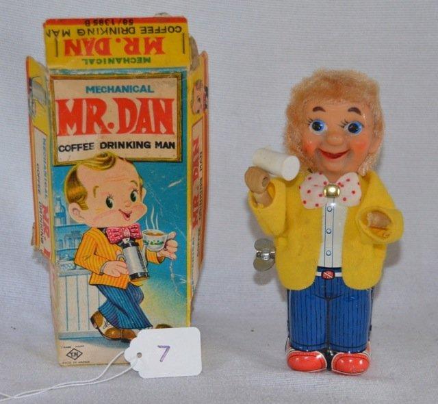 Mechanical Mr. Dan Coffee Drinking Man Toy