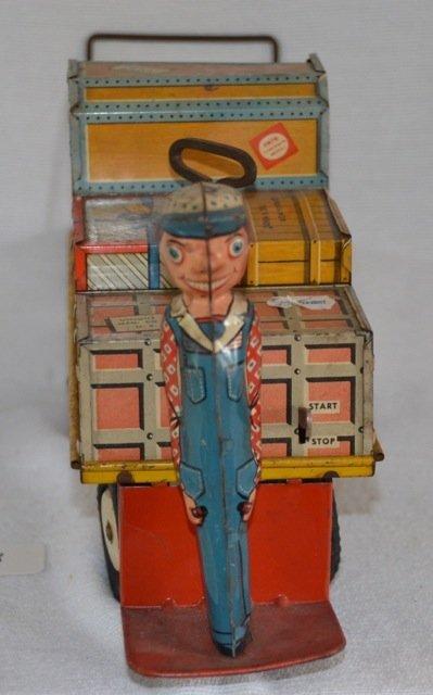 Rare Mechanical Tin Railroad Toy