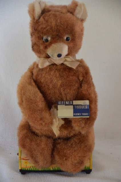 Linemar Tin Toy Bear with Kleenex