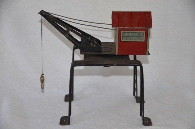 Mar Tin Railroad Crane Toy