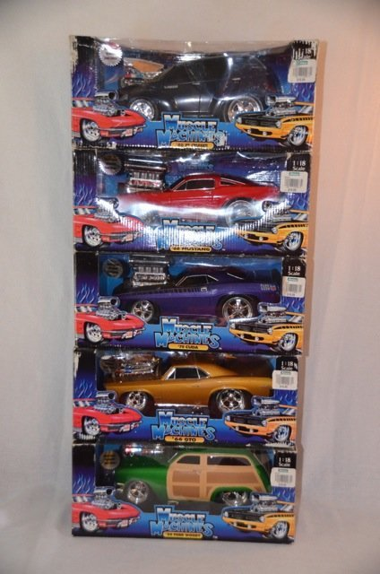Muscle Machine Die Cast Cars 1/18th Scale