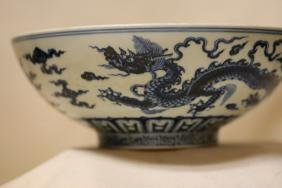 A Blue and White Porcelain Bowl