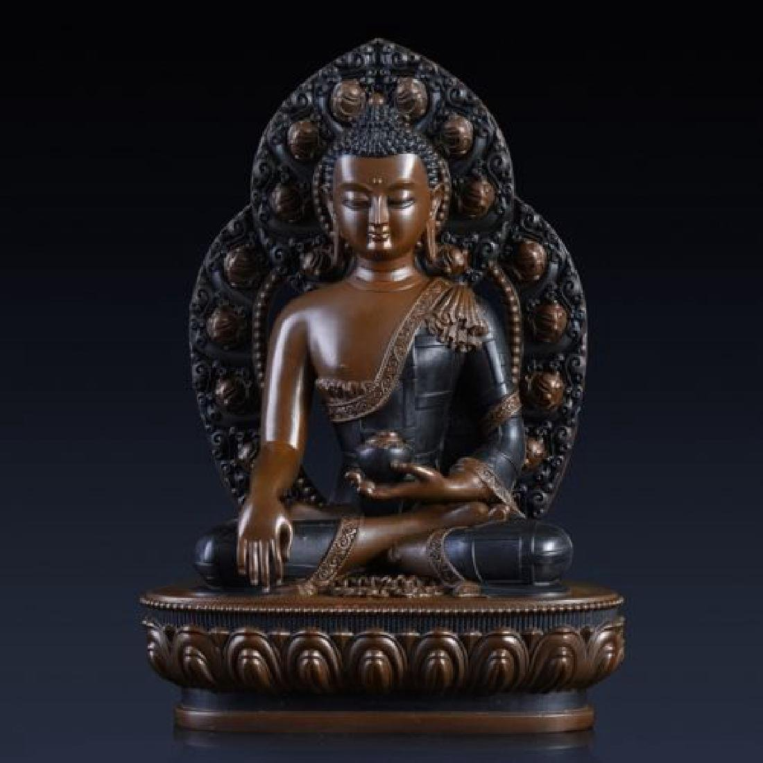 A Gilt-Bronze Figure of Buddha
