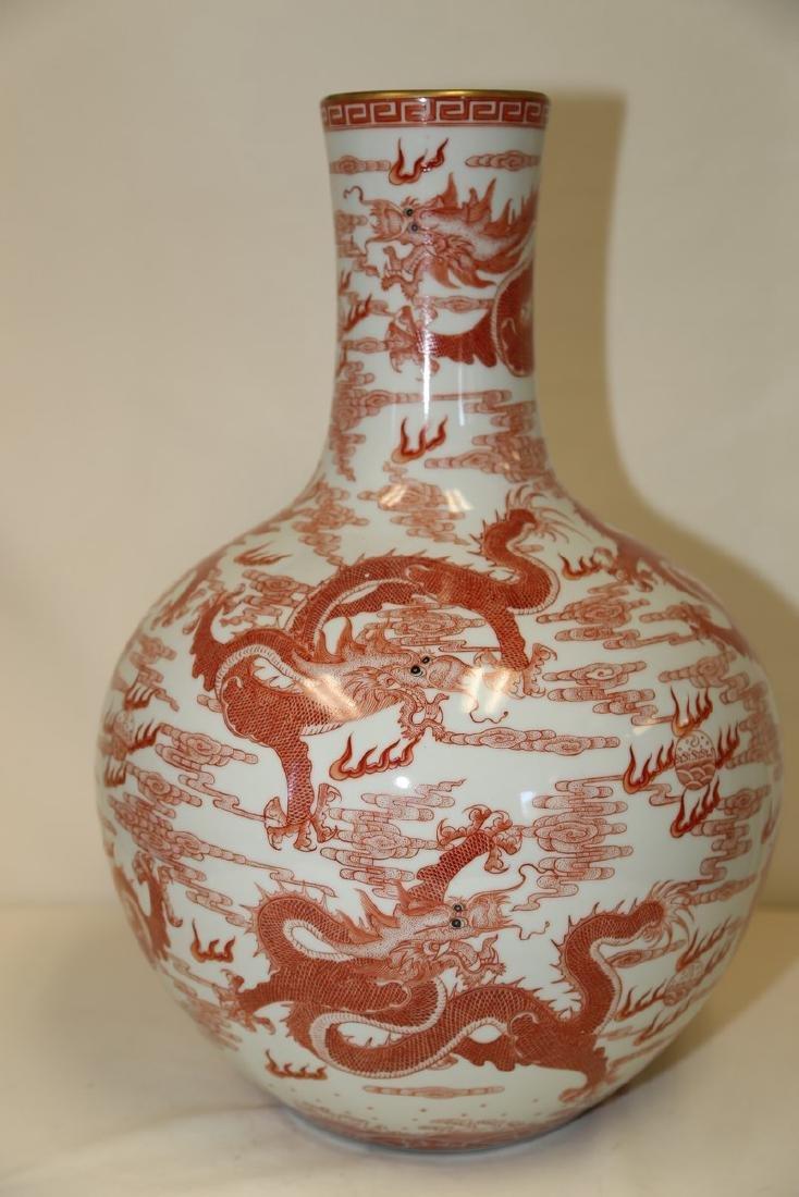 An Iron Red Dragon Vase