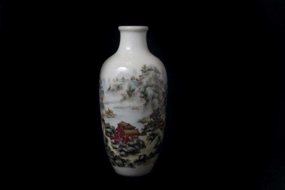 An Important and Fine Falangcai Enamelled Vase