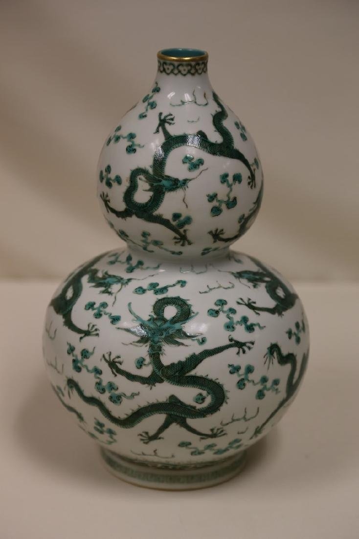 A Green and White Vase