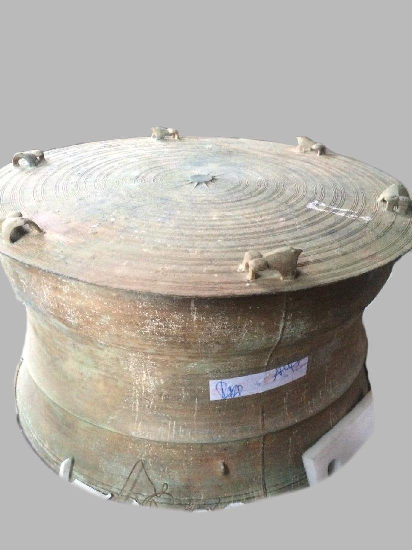 An Exceptional and Rare Bronze Drum of Han Dynasty