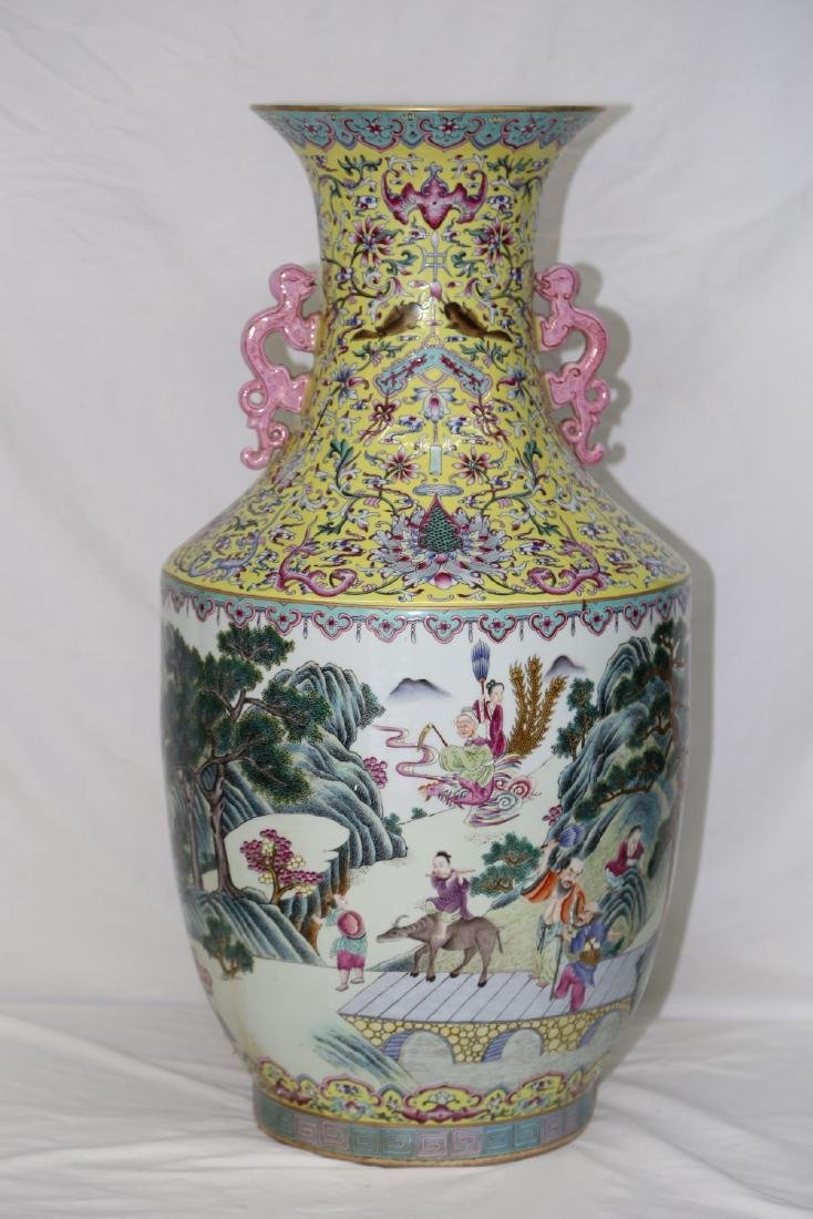 A Magnificent Imperial Large Famille Rose Porcelain