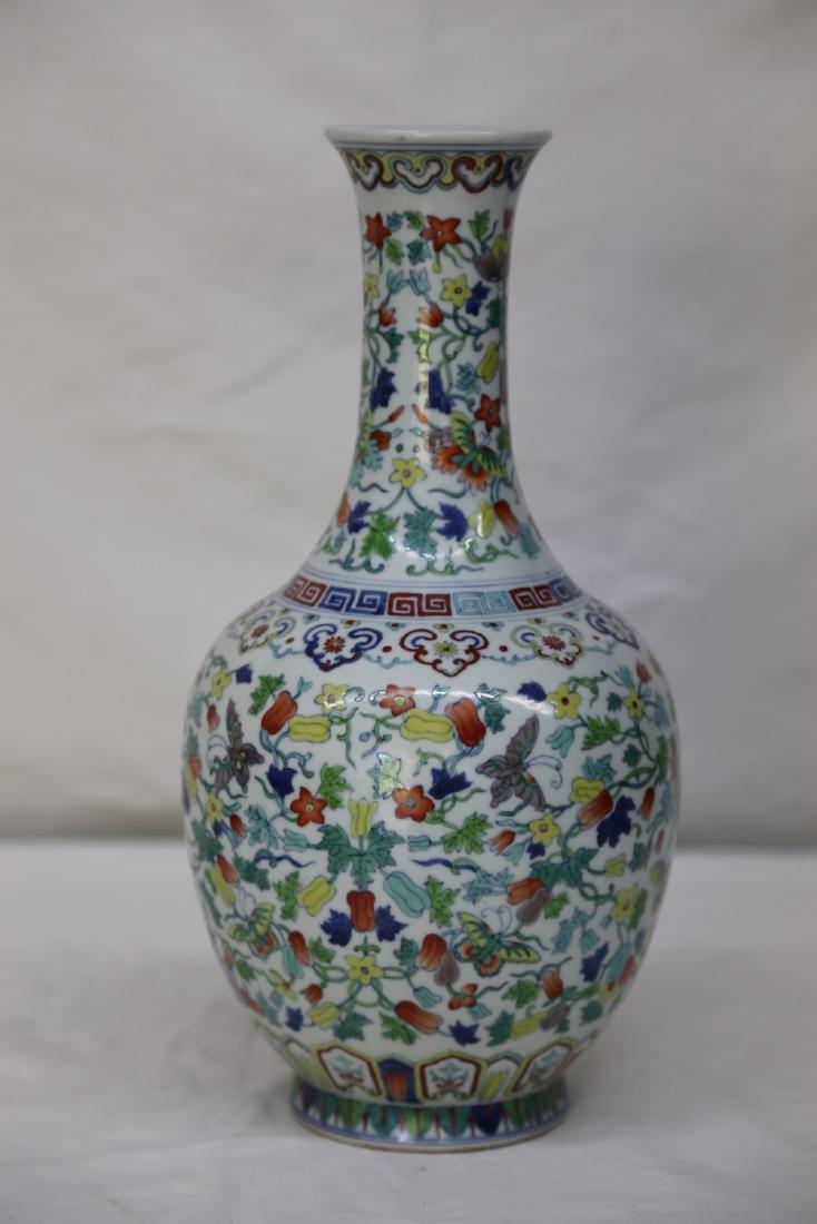 """A Doucai """"Floral"""" Porcelain Vase"""