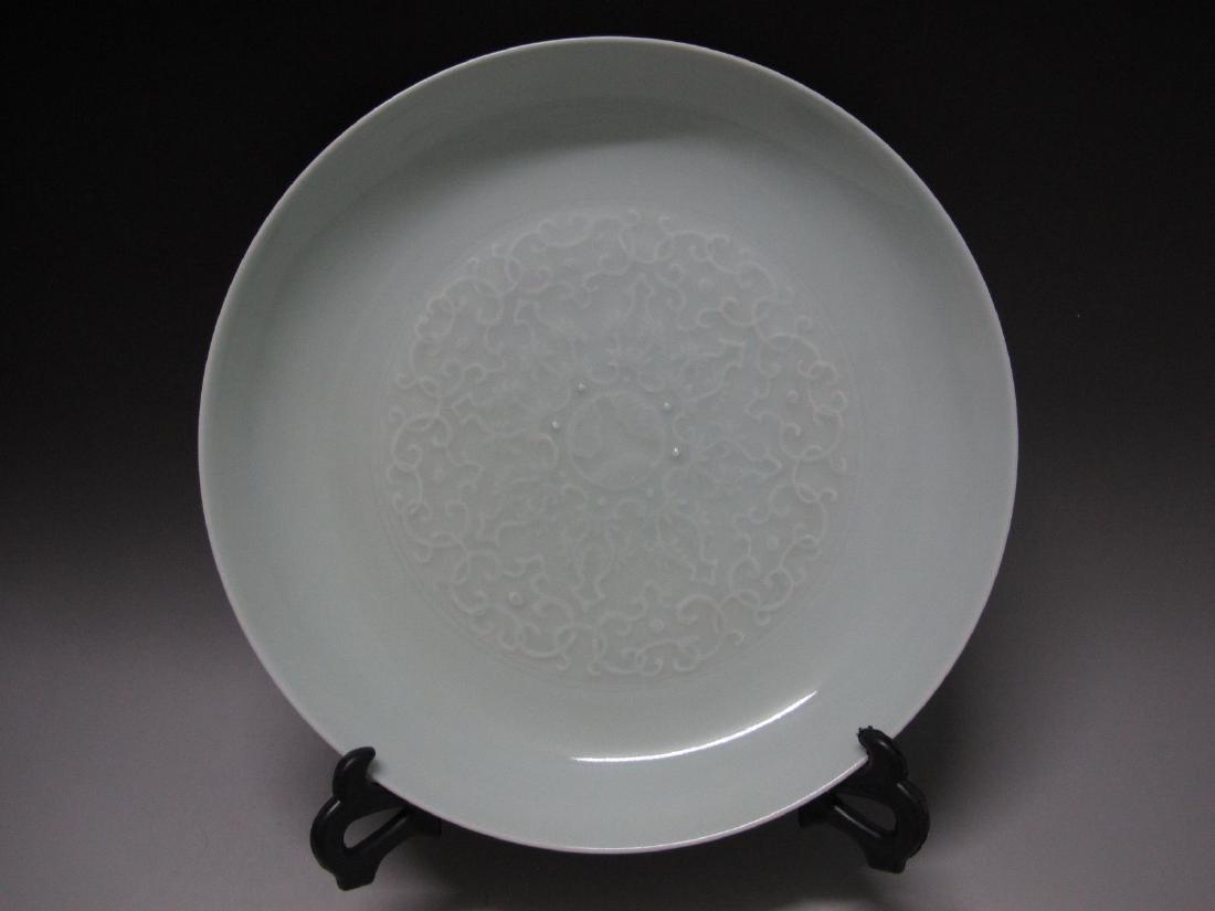 White Glaze Porcelain Dish