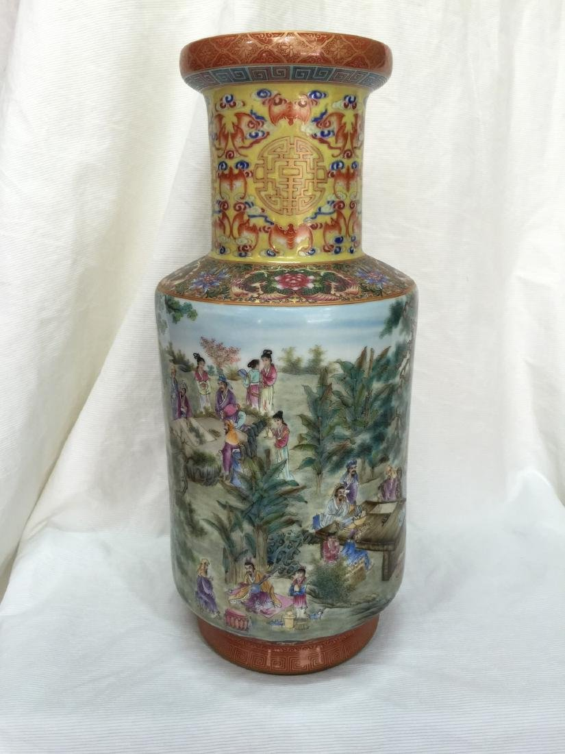 An Extremely Rare Museum Piece Famille Rose Vase