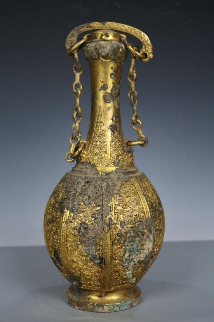 A Gilt-Bronze Vase