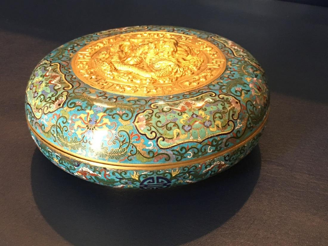 A Cloisonne Enamel Jewel Box