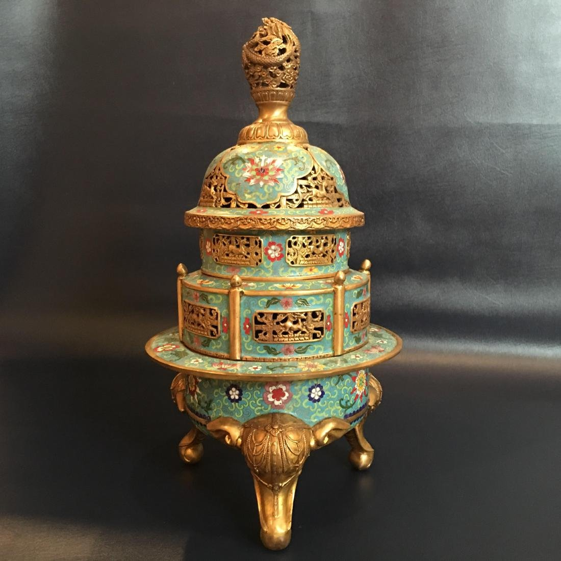 A Cloisonne Enamel Hollowing Censer