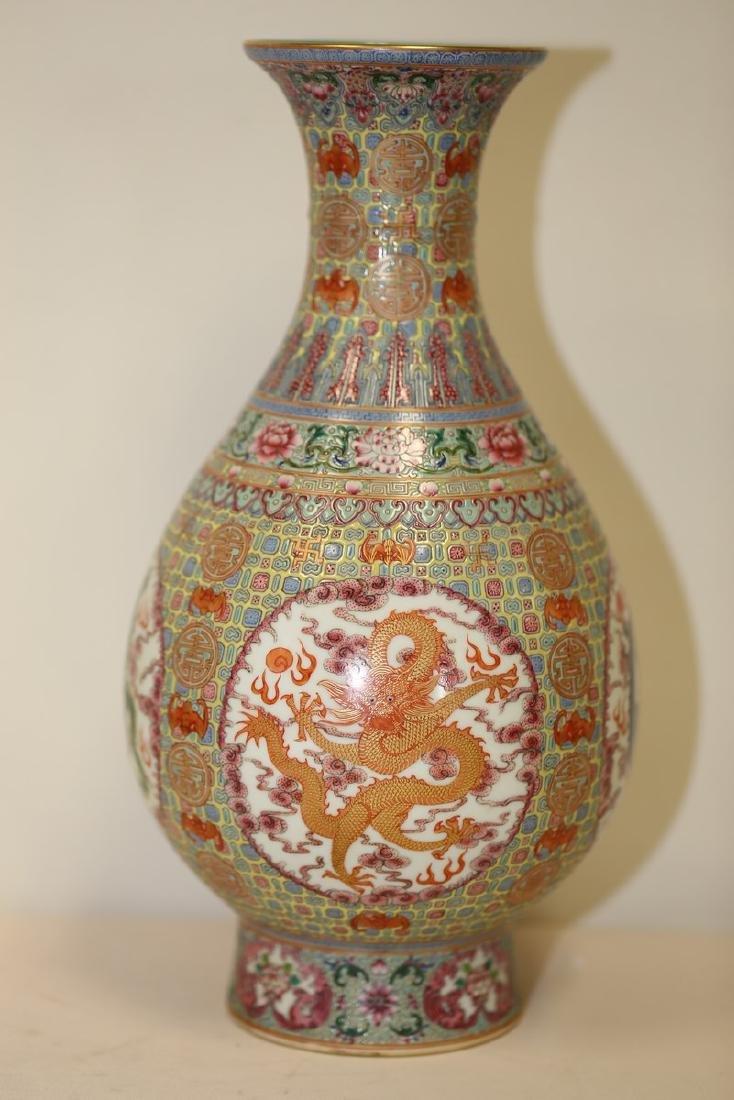 An Excellent Famille Rose Vase