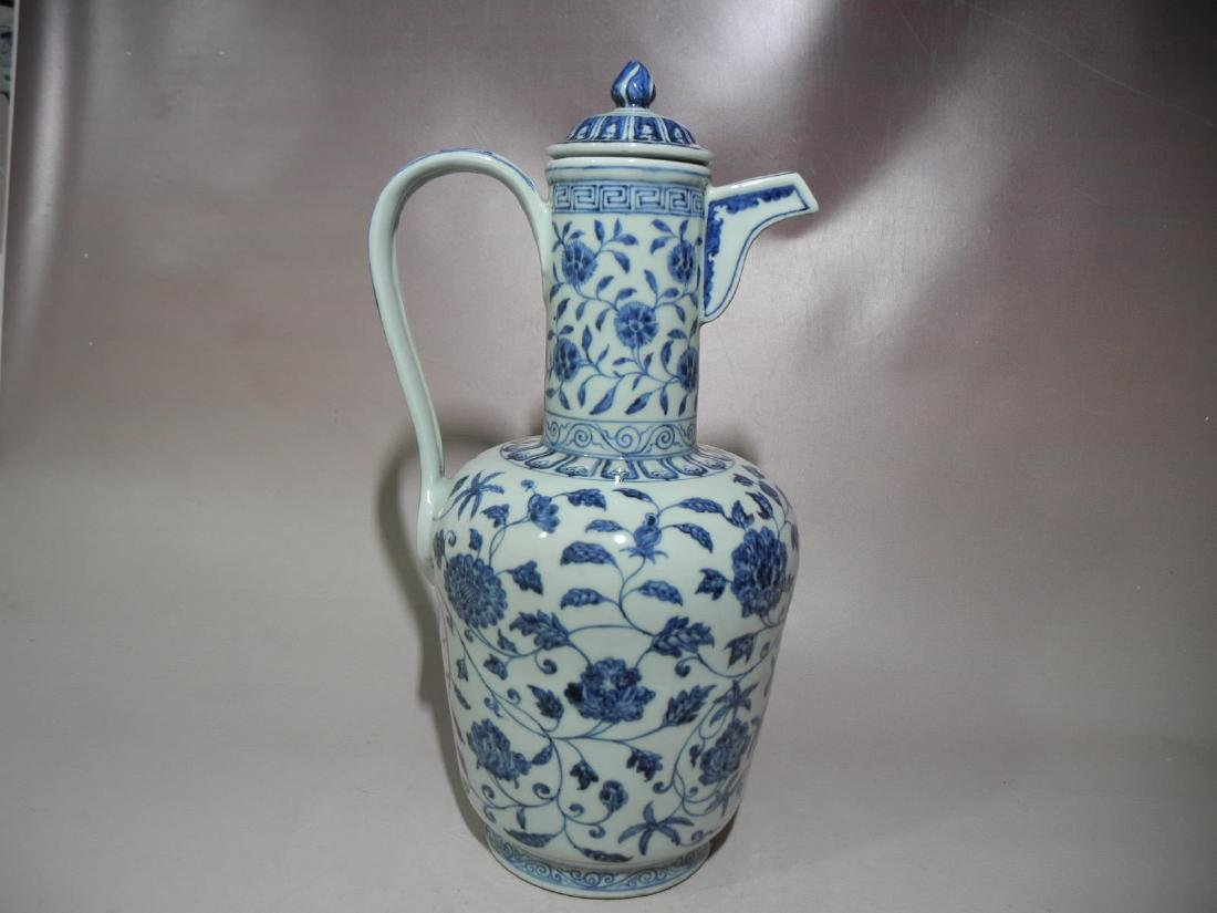 A Blue and White Porcelain Teapot