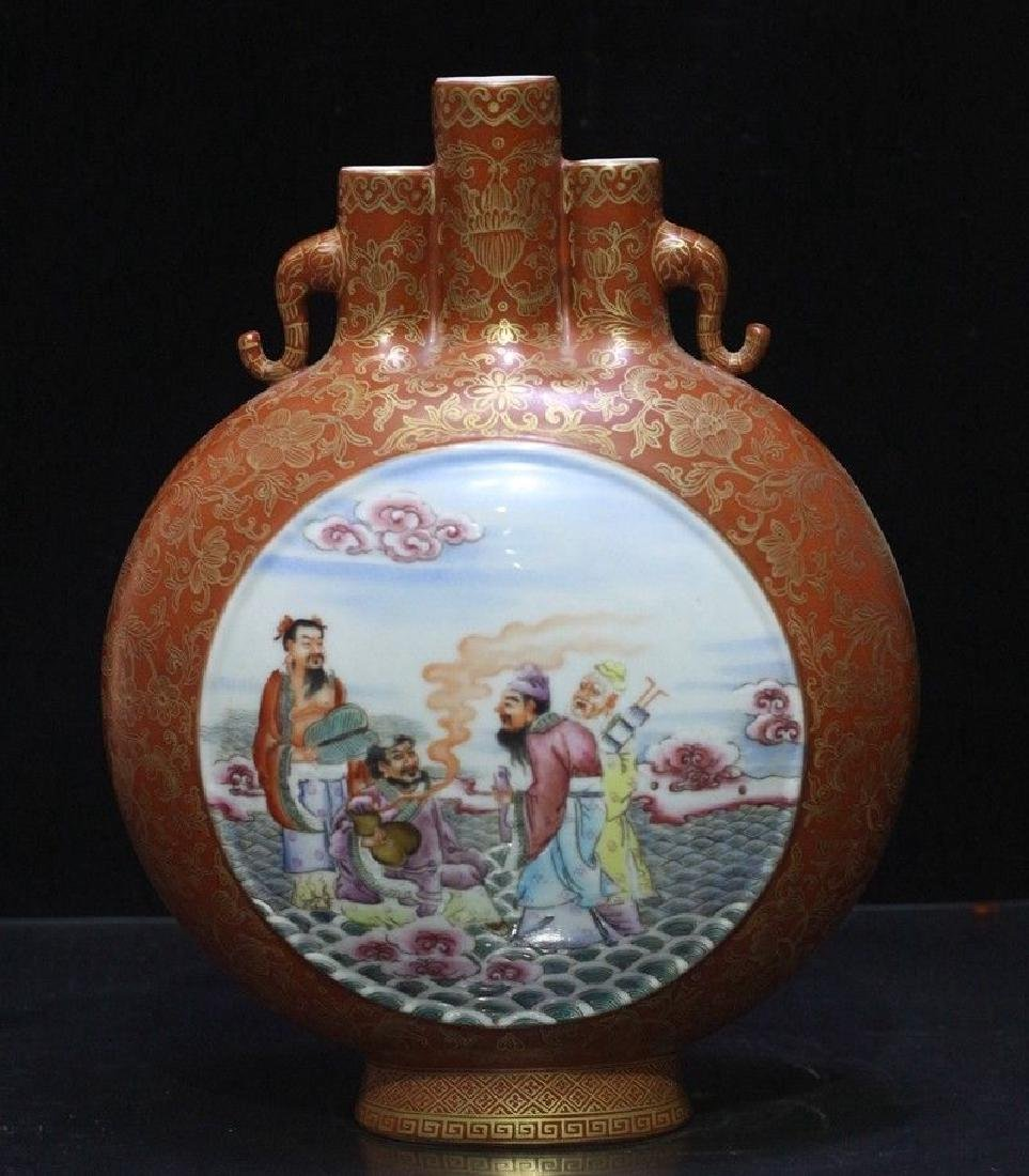 An Exceptional Famille Rose Vase - 7