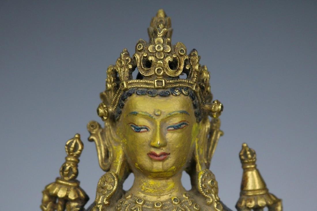 A Gilt Bronze Figure of Buddha - 2