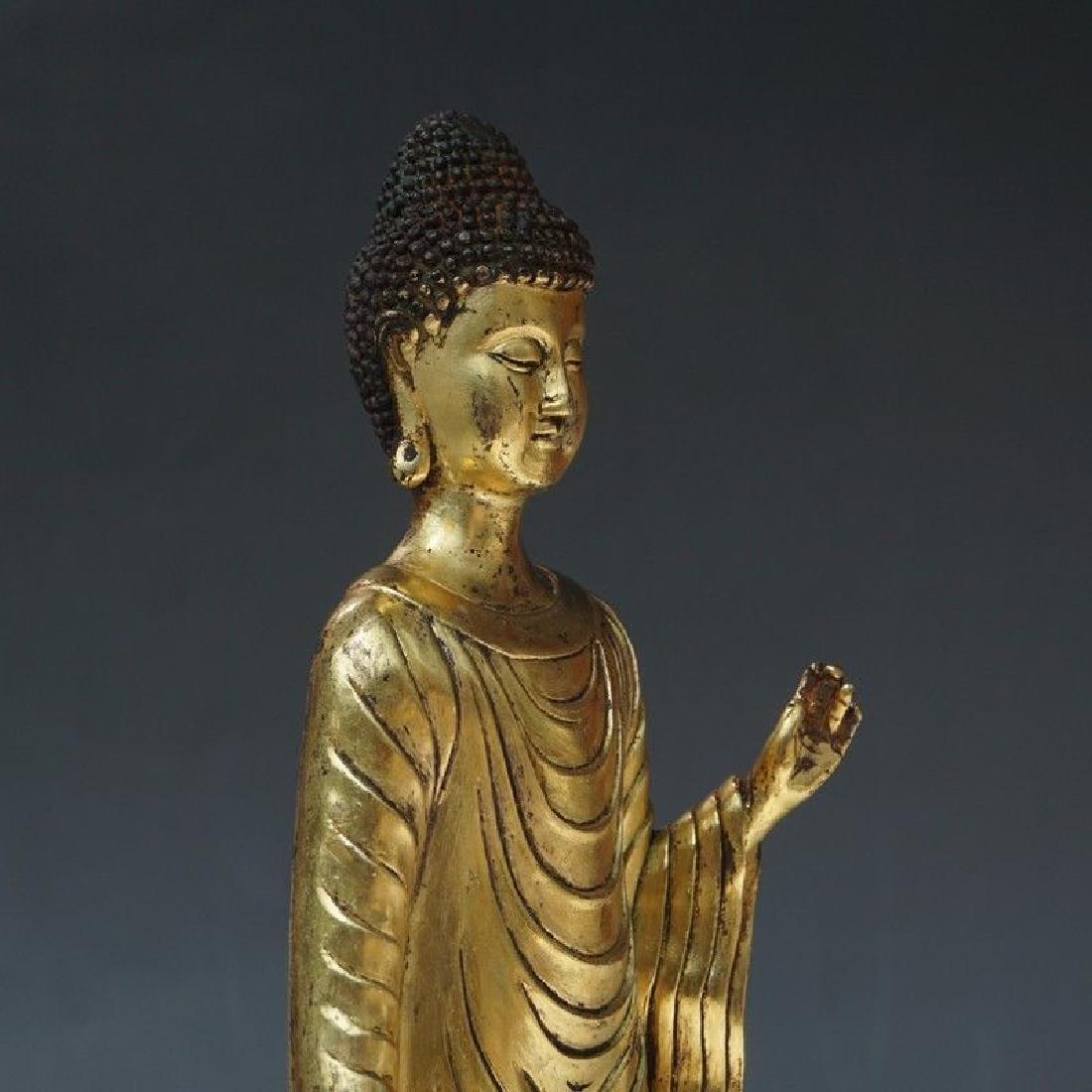 A Gilt Bronze Figure of Buddha - 7