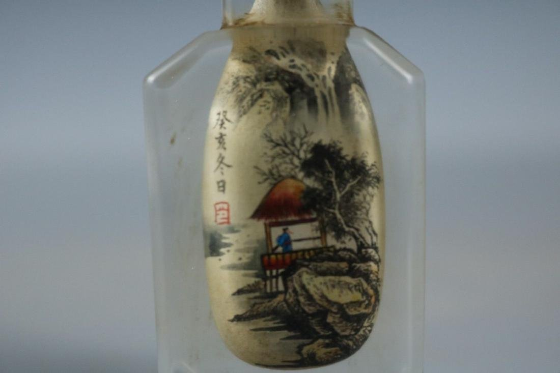 An Inside Painted Glass Snuff Bottle - 5