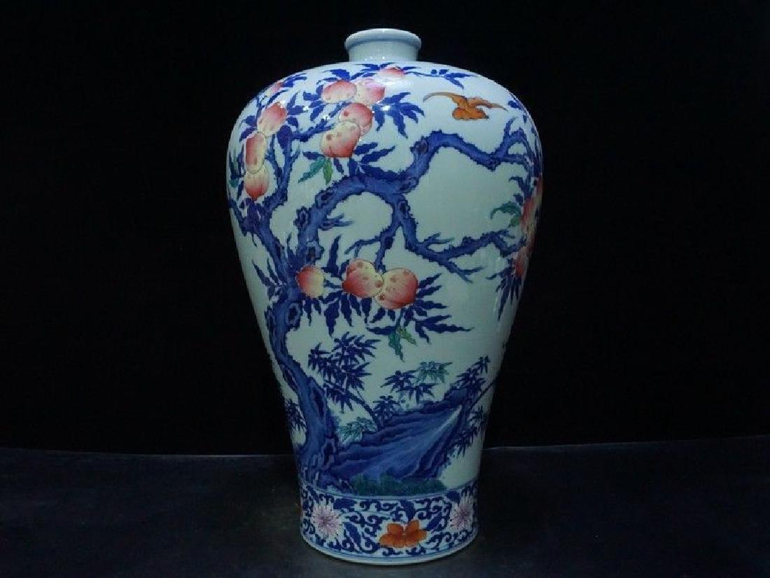 A Rare Famille Rose Porcelain Vase - 2