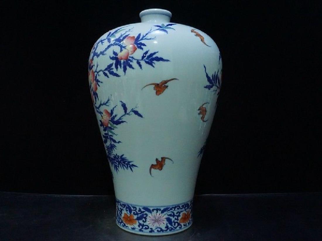 A Rare Famille Rose Porcelain Vase - 4