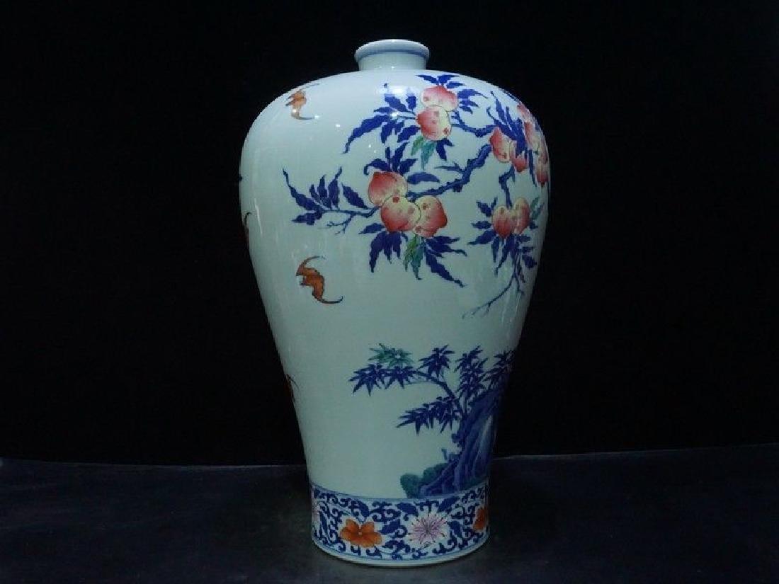 A Rare Famille Rose Porcelain Vase - 5