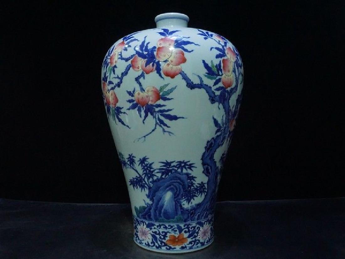 A Rare Famille Rose Porcelain Vase - 6
